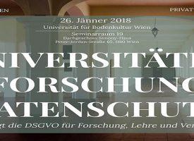 """Veranstaltung: """"Universitäten – Forschung – Datenschutz"""""""