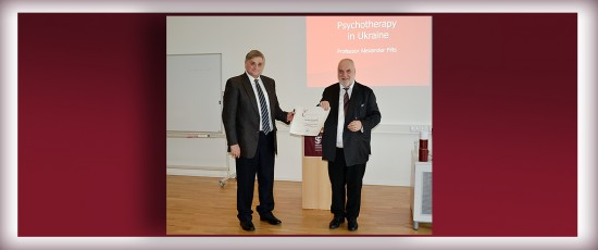 Verleihung der Honorarprofessur Psychotherapiewissenschaft an Prof. Dr. Aleksander Filts