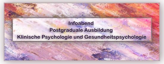 PSY | Informationsabend Postgraduale Ausbildung: Klinische Psychologie und Gesundheitspsychologie