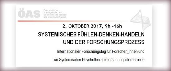 """Internationaler Forschungstag: """"Systemisches Denken – Fühlen – Handeln und der Forschungsprozess"""""""