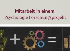 PSY | Mitarbeit in einem Psychologie Forschungsprojekt