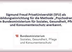 """PTW   SFU als Ausbildungseinrichtung für die Methode """"Psychodrama"""" anerkannt!"""