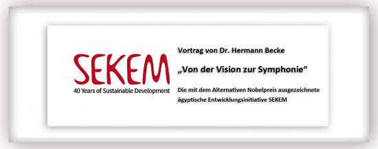 """Vortrag über die Entwicklungsinitiative SEKEM: """"Von der Vision zur Symphonie"""""""