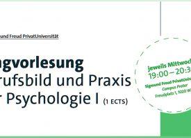 PSY | Ringvorlesung Berufsbild und Praxis der Psychologie I