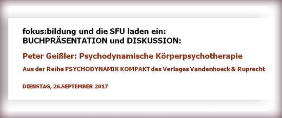 BUCHPRÄSENTATION: Peter Geißler: Psychodynamische Körperpsychotherapie