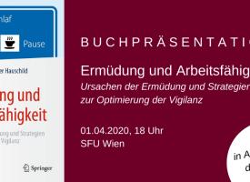 VERSCHOBEN: Buchpräsentation Ermüdung und Arbeitsfähigkeit