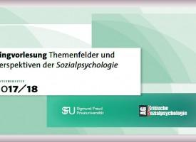 PSY | Ringvorlesung: Themenfelder und Perspektiven der Sozialpsychologie