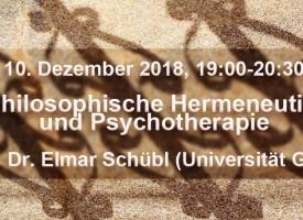 Vortrag: Philosophische Hermeneutik und Psychotherapie