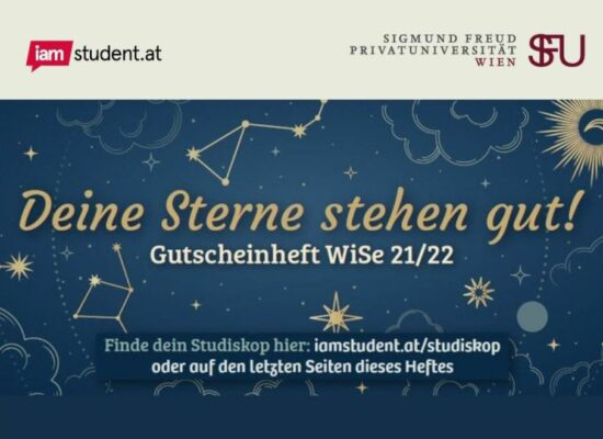 Voucher booklet – in cooperation with iamstudent.at
