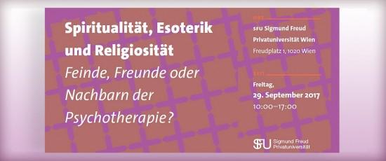 Symposium: Spiritualität, Esoterik und Religiosität – Feinde, Freunde oder Nachbarn der Psychotherapie?