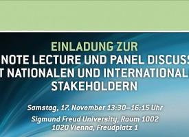 MED | Key Note Lecture und Panel Discussion mit nationalen und internationalen Stakeholdern