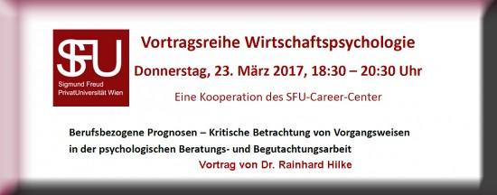 PSY | Vortrag: Berufsbezogene Prognosen – Kritische Betrachtung von Vorgangsweisen in der psychologischen Beratungs- und Begutachtungsarbeit