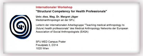 """MED   Internationaler Workshop: """"Structural Competency for Health Professionals"""""""