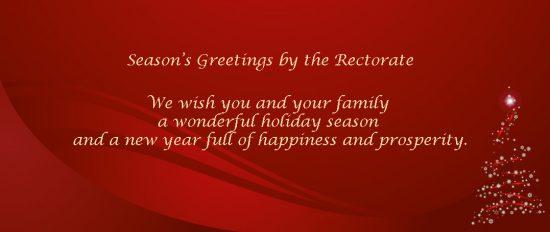 SFU | Season's Greetings 2017 by the Rectorate