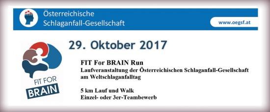 FIT For BRAIN Run   Laufveranstaltung der Österreichischen Schlaganfall-Gesellschaft