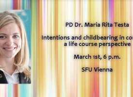 """Gastvorlesung/Guest Lecture – PD Dr. Maria Rita Testa: """"Intentions and childbearing in contexts: a life course perspective"""""""